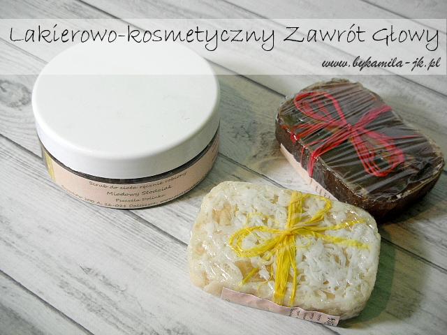 Pszczela Dolinka peeling scub kosmetyki naturalne ręcznie robione mydło migdałowe Śnieżne Migdały cynamonowe