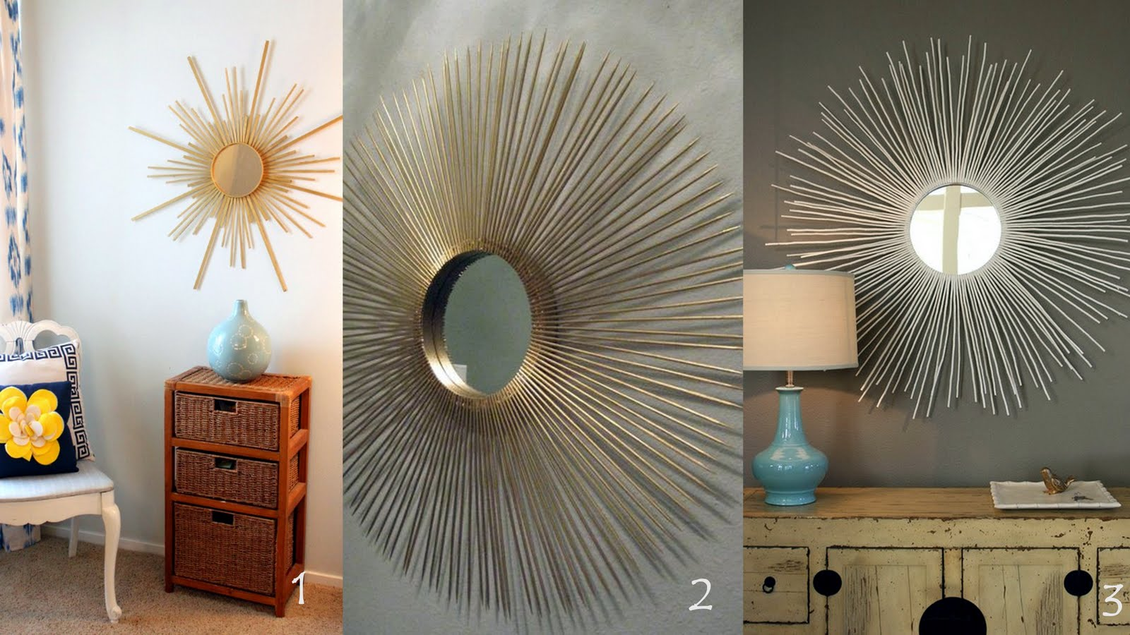 Laura orr interiors sunburst mirror for How to make a round frame for mirror