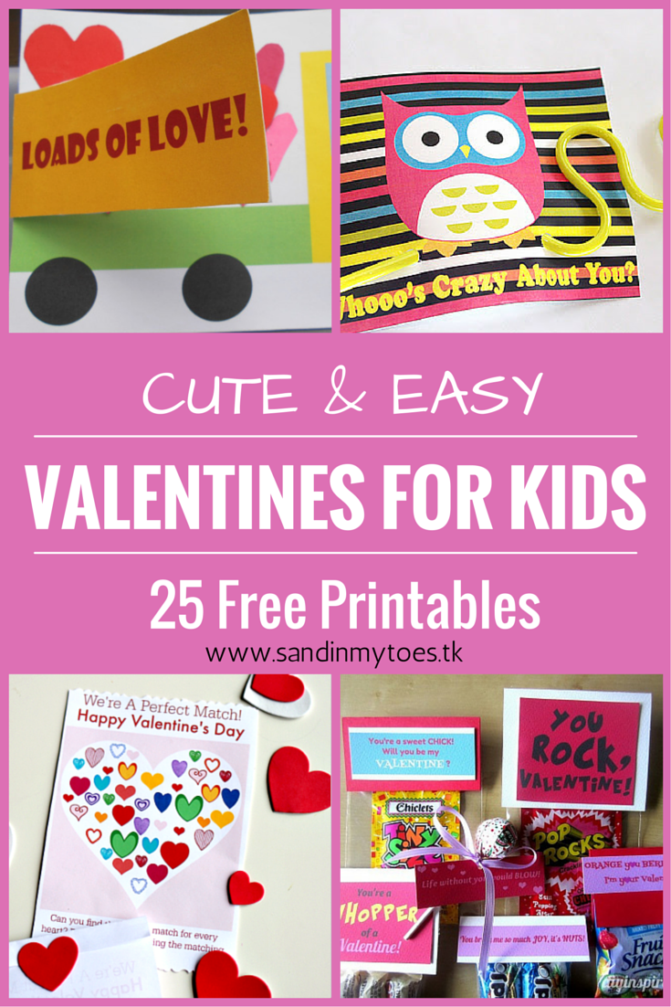 25 free Valentine's printables for kids to make, that are cute and easy!