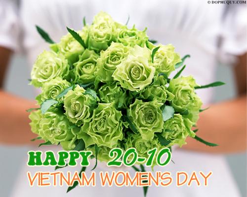 Ảnh đẹp 20-10 với lời chúc mừng ngày Phụ nữ VN