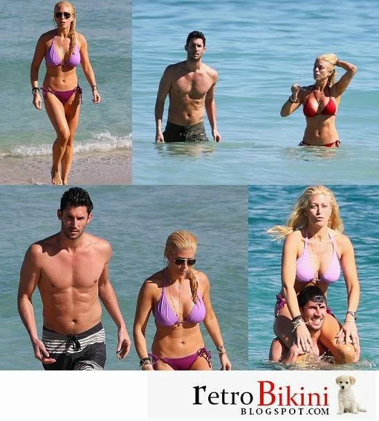 English:Jill Martin Purple Bikini Miami February 15, 2014