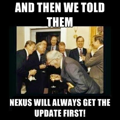 Not getting lollipop update on Nexus. They are not jocking.