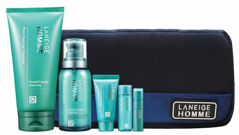 Laneige Pore Clearing Holiday Set for HIM, Gift Set, Laneige 2014 Holiday Collection, Laneige, Holiday Set, Christmas Set, Skincare, Makeup, Beauty