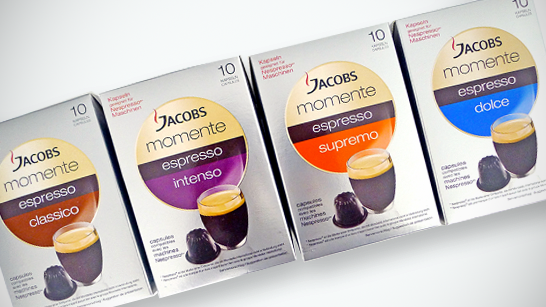 jacobs momente espresso classico nespresso kompatible kaffeekapseln 4er pack 4 x 10 kapseln. Black Bedroom Furniture Sets. Home Design Ideas