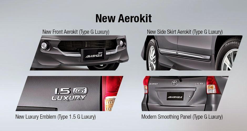 Eksterior Mobil Toyota New Avanza E, G, Veloz dan Luxury 2015