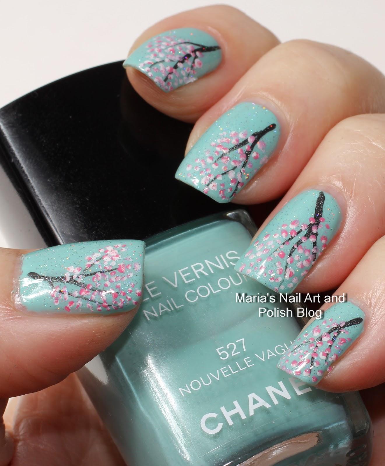 Nailzini A Nail Art Blog: Marias Nail Art And Polish Blog: Cherry Blossom Nail Art