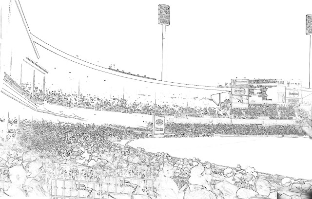 cricket stadium sketch