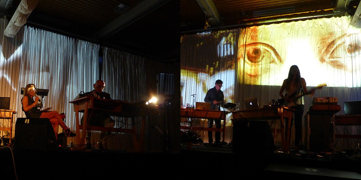 Claudia Schumann & Roedelius / Clara Hill @ More Ohr Less Festival 2014 / photo S. Mazars