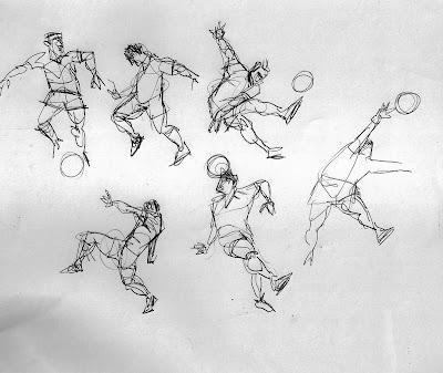 Desenhos Para Colorir Jogadores e goleiro com bola em campo