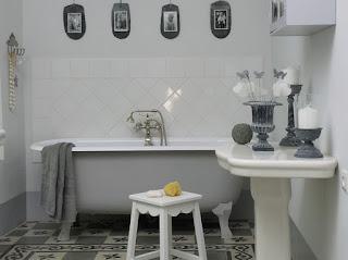 baño blanco casa provenza