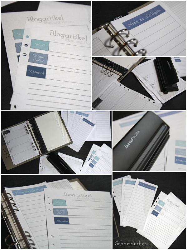 Filofax Printable Druckvorlage Blogplaner Planner