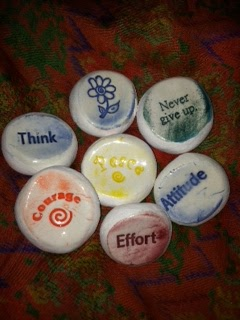 Friends~I have to share with you a really neat find.  Worry Stones! From The Schroeder Page photo of