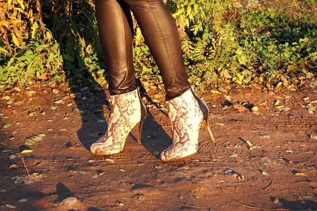 snake boots wężowe