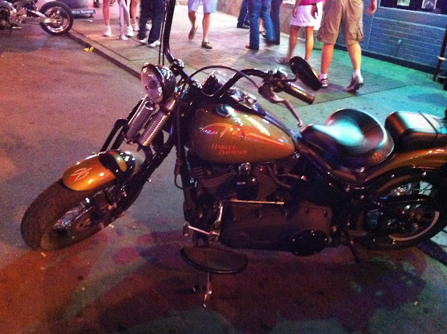 motorbike parked outside a bar in Nashville