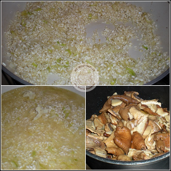 Risotto con funghi al profumo di tartufo