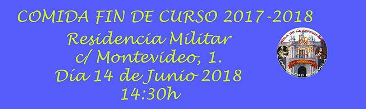 COMIDA FIN DE CURSO 2017-2018