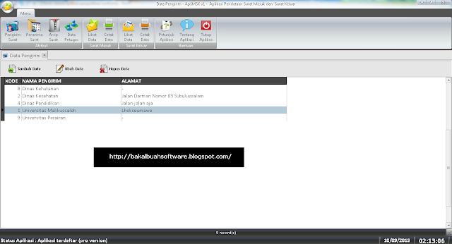 Aplikasi Pengolahan Surat Masuk dan Keluar Menggunakan Delphi7