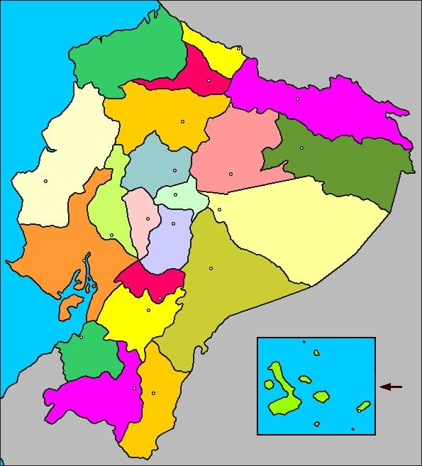 el mapa del ecuador