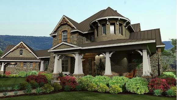 Fachadas de casas modelos de fachadas americanas for Casa modelo americano