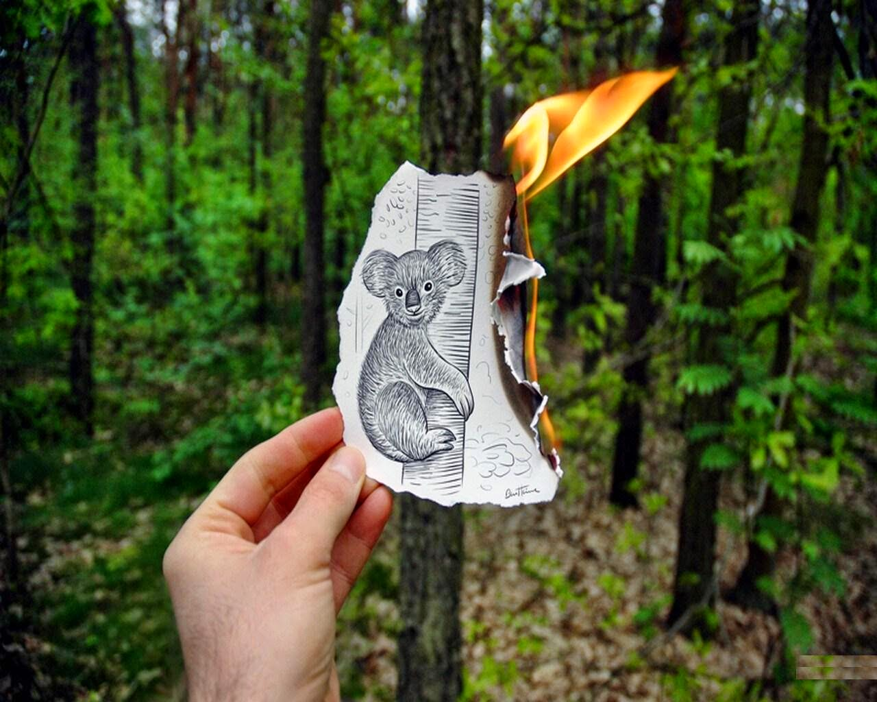 Pencil vs Camera HD Images by Ben Heine