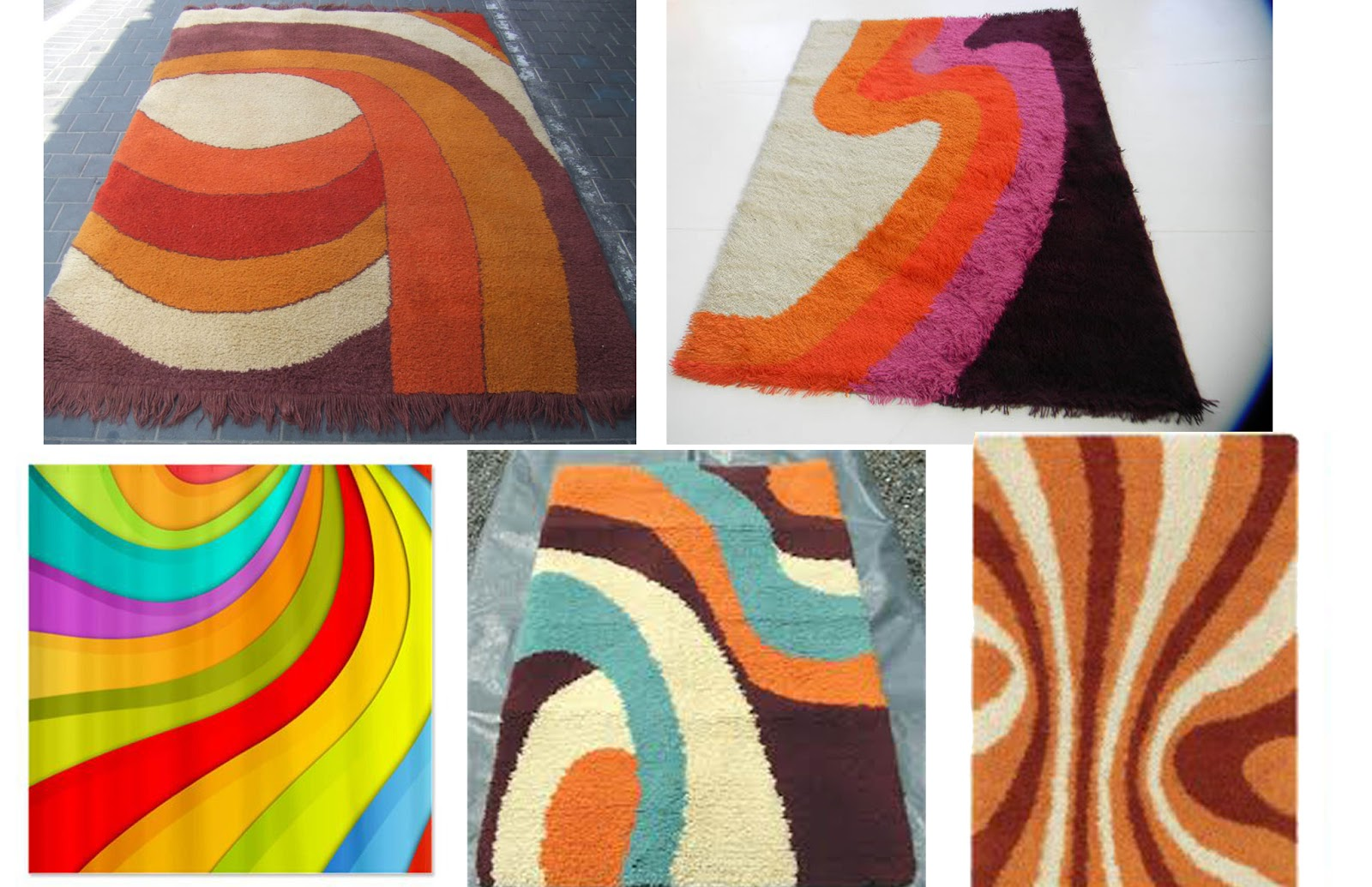 And Here Is Me Playing With Colorways On My Own Rug Design: