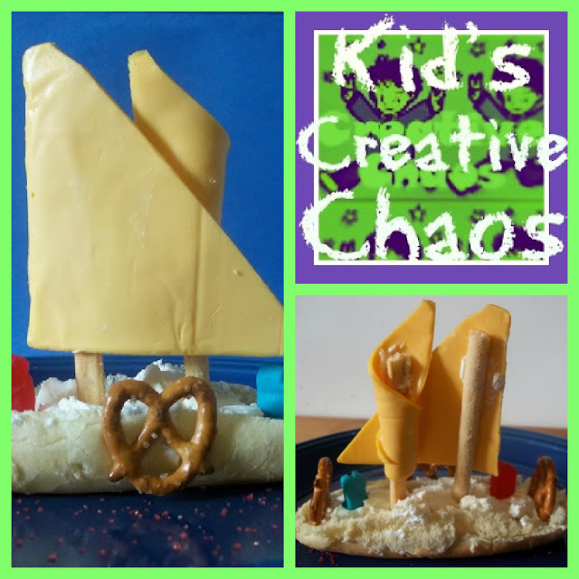 Kitchen Kids: Edible Eatable Art Mayflower Sandwich Snack for Thanksgiving