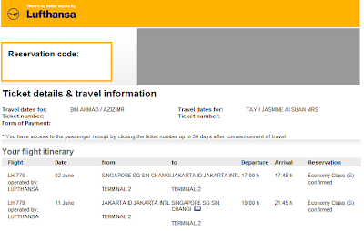 Booked our flight to Jakarta!