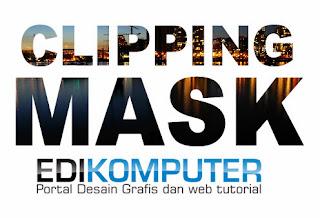 Cara Membuat Efek Clipping Mask di text dengan adobe Illustrator