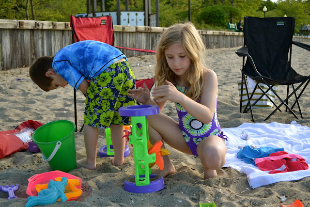 Toys at the beach
