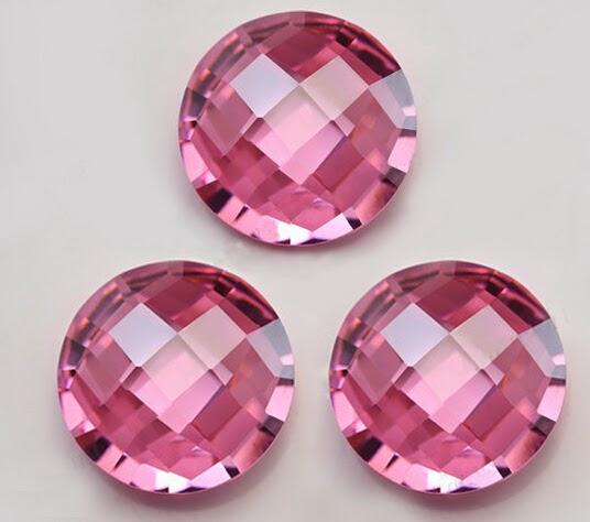Pink_Color_Cubic_Zirconia_Checkerboard_Cut_Gemstones_China_Wholesale_Supplier