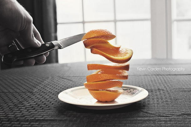 Fruit Levitation Photography