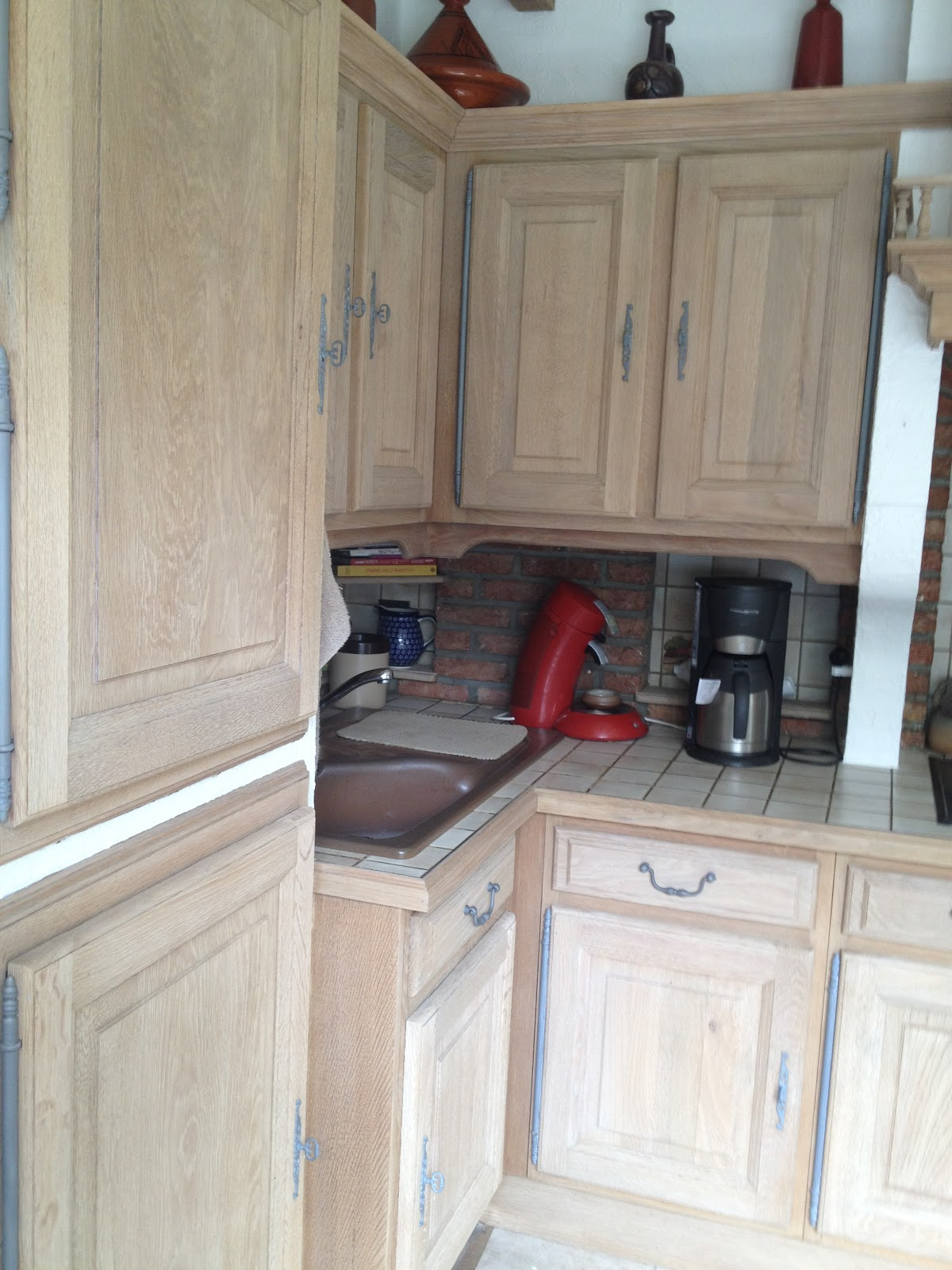 Keuken Zandstralen : Zandstralen, renoveren van eiken keuken Kortrijk Renovatie van eiken