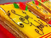 . he pensado invitaros a todos con un pastelito de Sant Jordi: (pastel sant jordi)