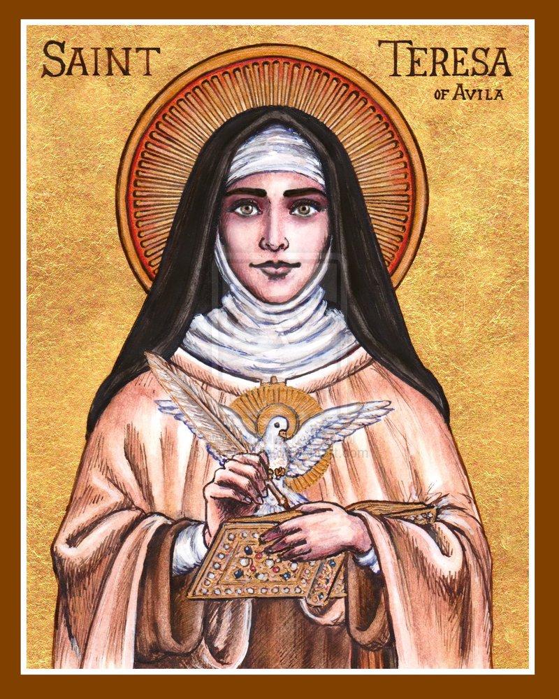 http://theophilia.deviantart.com/art/St-Teresa-of-Avila-icon-407524163