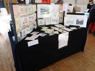 hand press print, lino print, stall, handmade, market