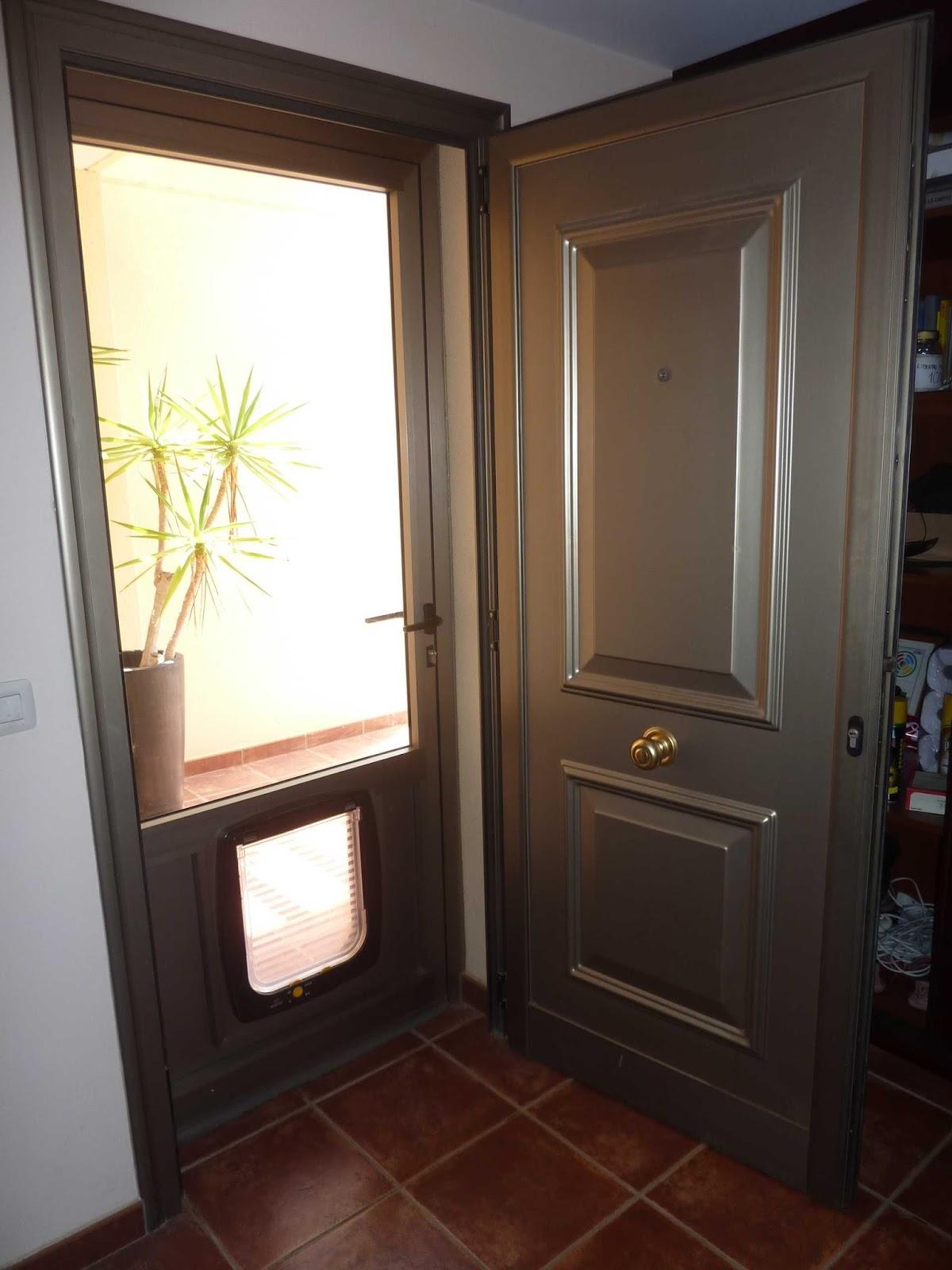 Aluxsa tenerife puerta exterior de aluminio corta vientos - Puerta de exterior ...