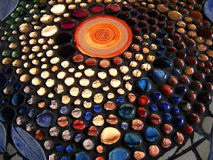 Glass Mosaic Table detail