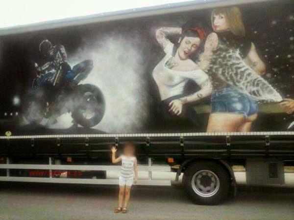 Camión pintado con sprays