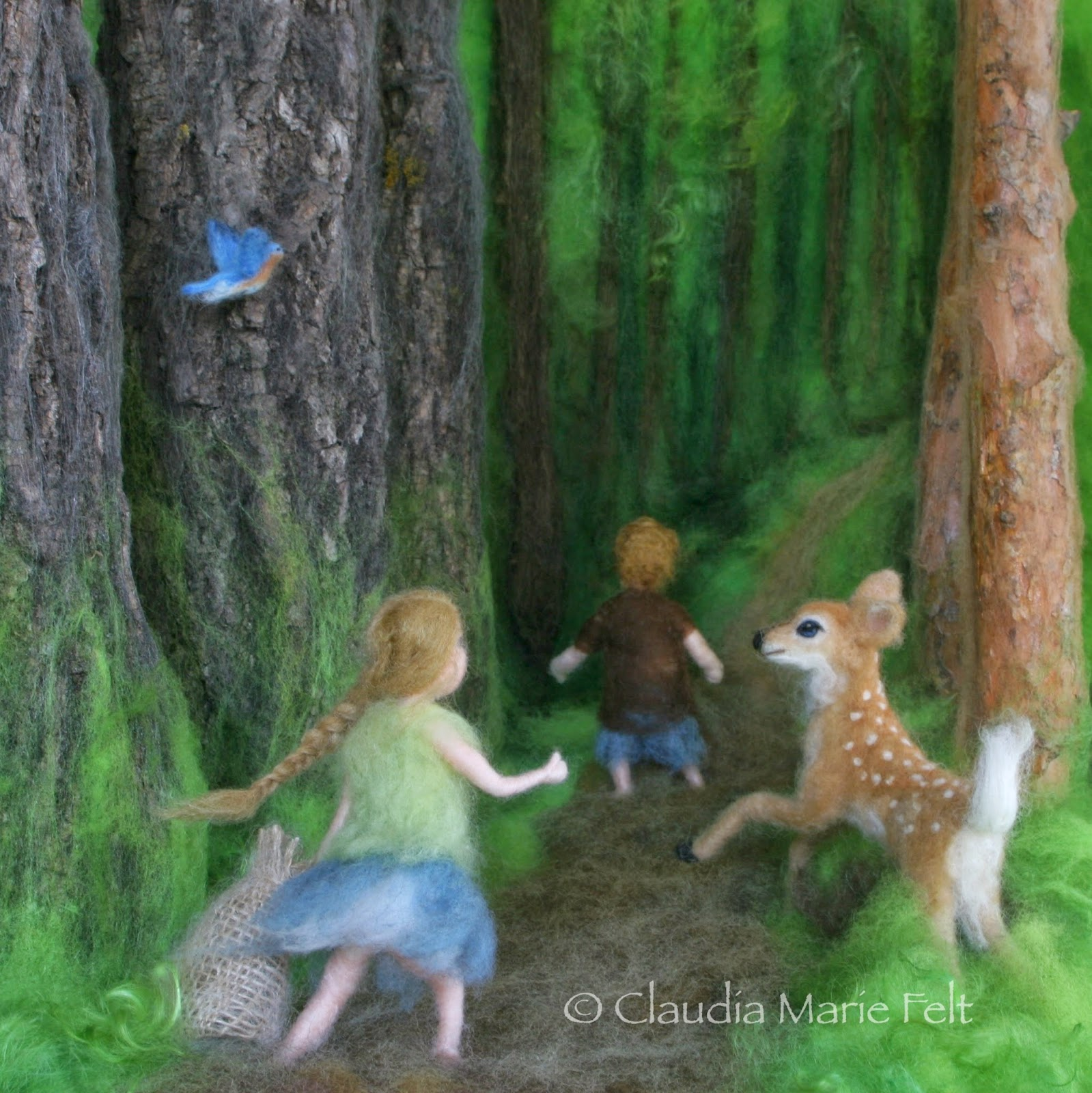 Needle felt book illustration by Claudia Marie Lenart