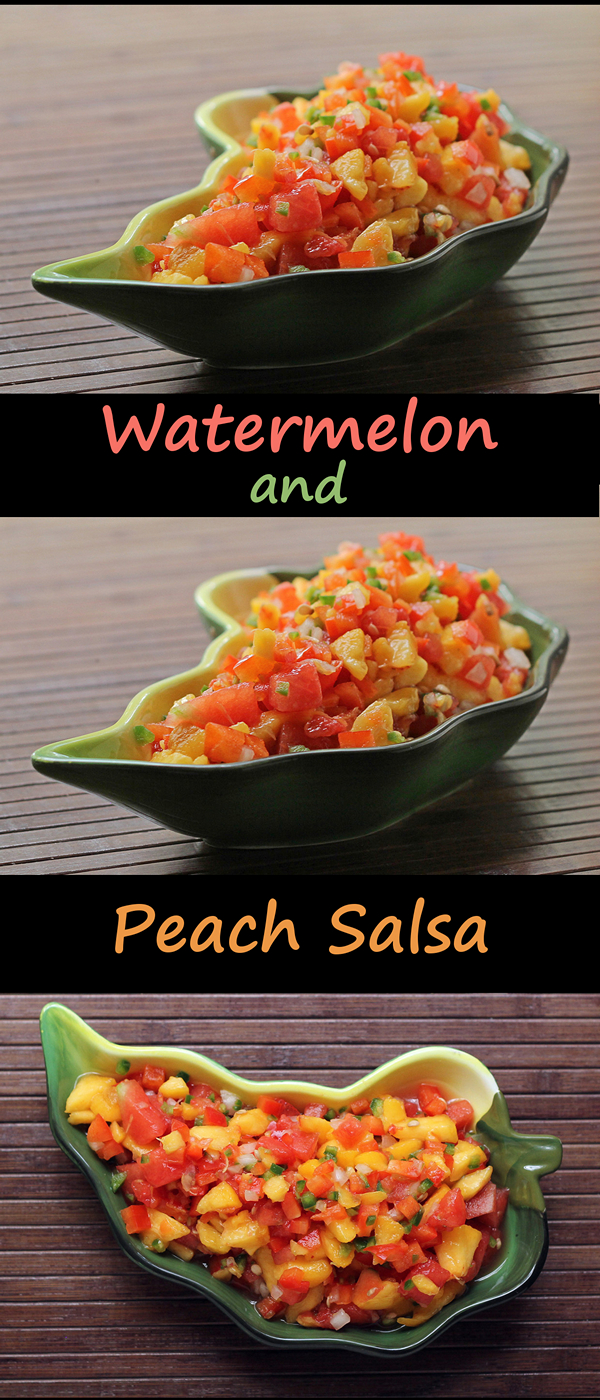 Watermelon and Peach Salsa