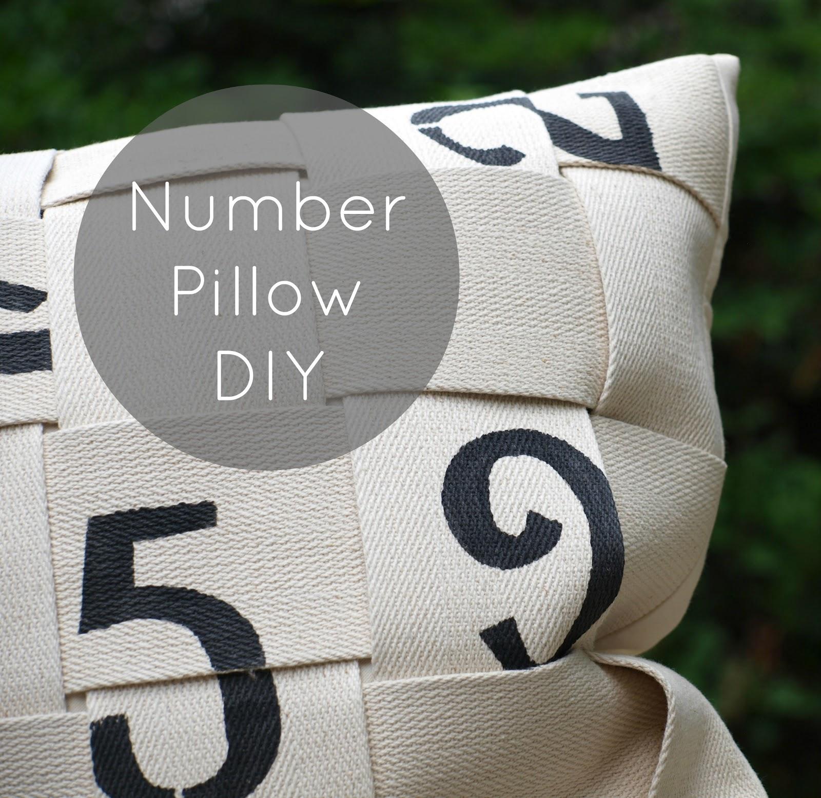 Плетёная подушка с цифрами