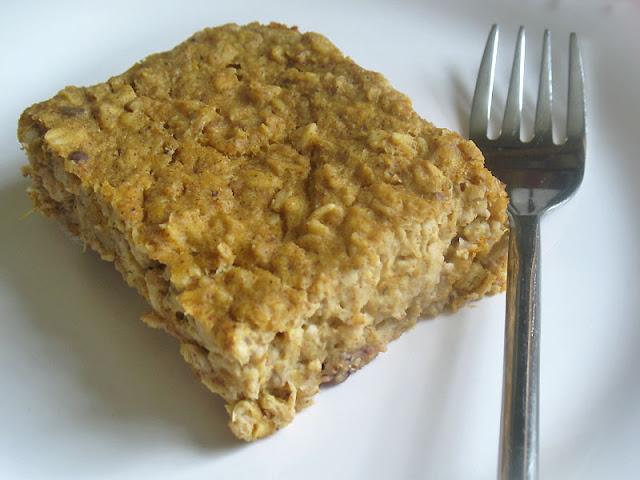 savory oatmeal pumpkin bake