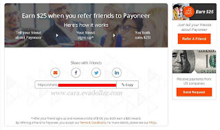 "Cara Memanfaatkan Program ""Refer A Friend"" di Payoneer"