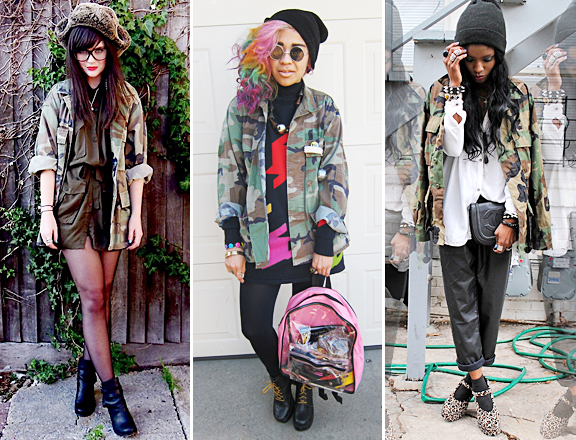 army camoflage jacket outfits streetstyle