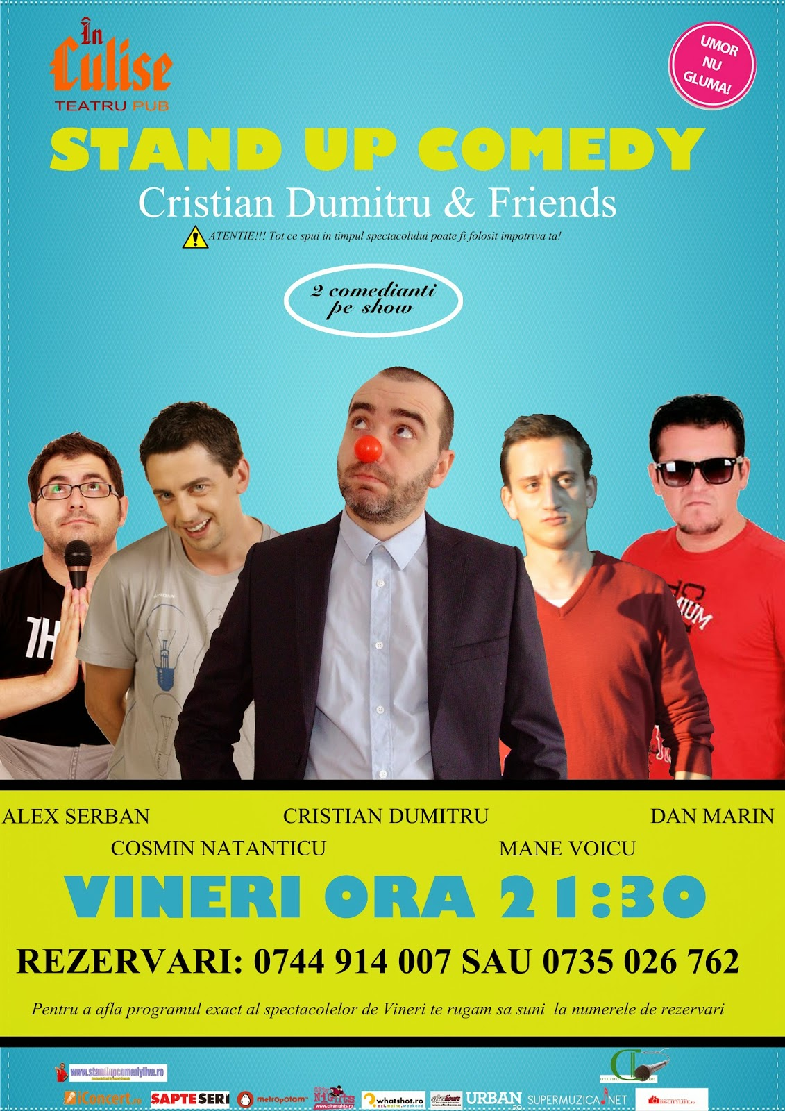 Stand-Up Comedy Vineri 30 mai bucuresti