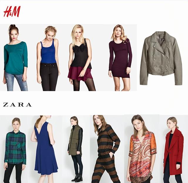 H&M i Zara - kolorystyka jesień 2013