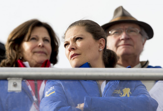King Carl Gustaf of Sweden, Queen Silvia of Sweden, Crown Princess Victoria of Sweden, Princess Estelle of Sweden, Prince Carl Philip of Sweden and Sofia Hellqvist