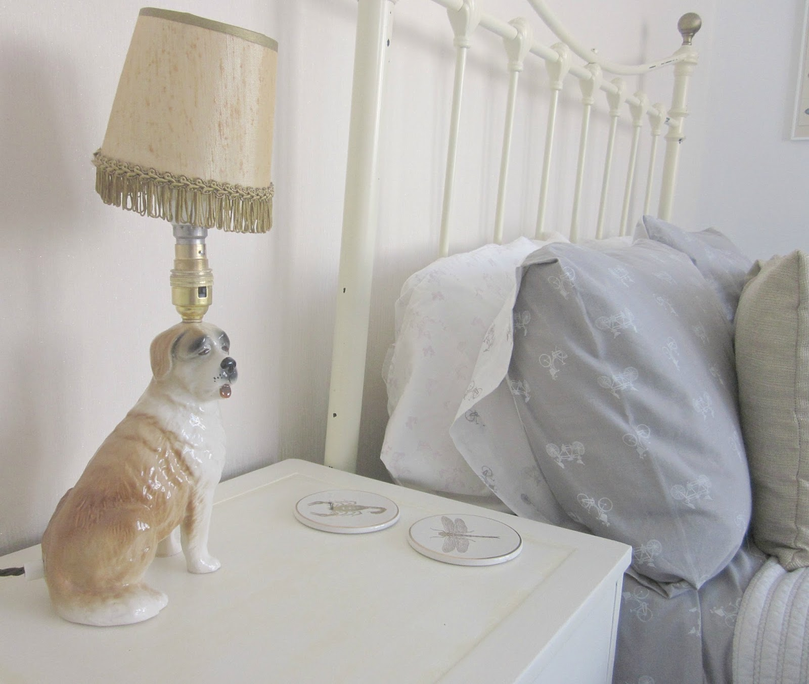 dog lamp and bed