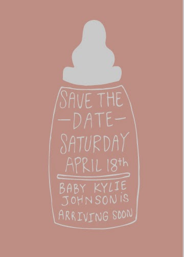 Baby shower save the date in Melbourne