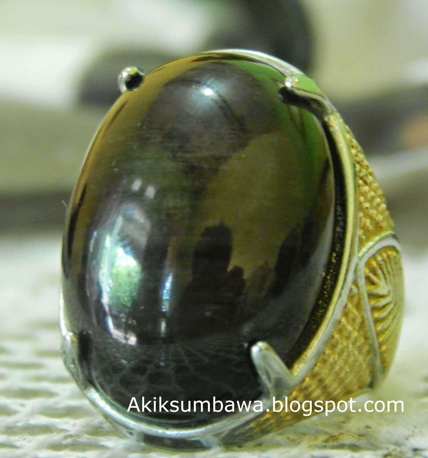 Batu Akik Black Moyo Sumbawa
